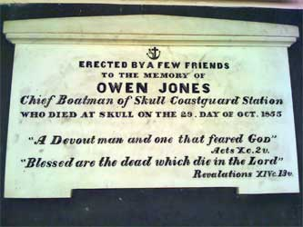 Memorial at Schull to Owen Jones
